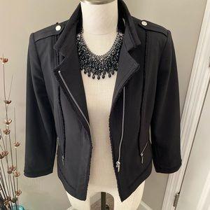 WHBM Asymmetrical Zip-Front Moto Jacket